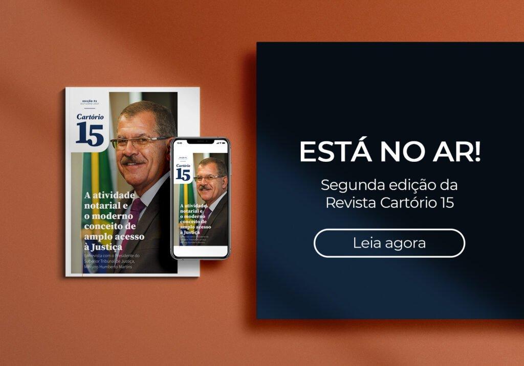 Imagem da segunda edição da Revista Cartório 15